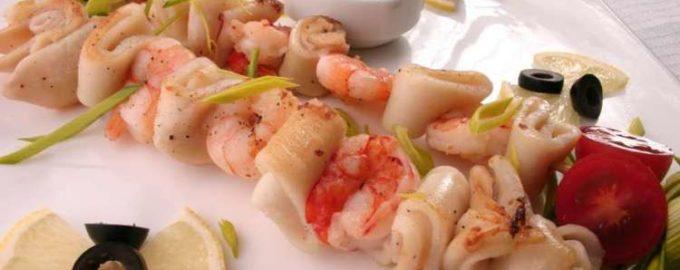 Шашлык из морепродуктов рецепт для гурманов