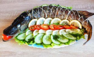 рыба фаршированная в чулок