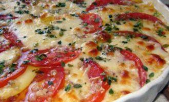 Пирог с помидорами сыром и шпинатом