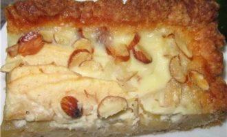 Яблочный пай рецепт с миндалём