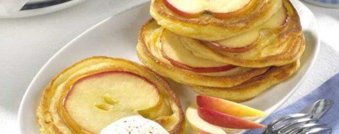 Яблочные оладьи рецепт с корицей и сахаром