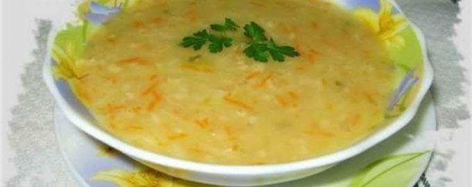 Суп из овсяных хлопьев