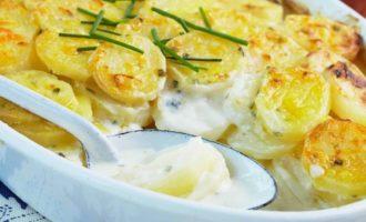 Запечённый картофель по-французски