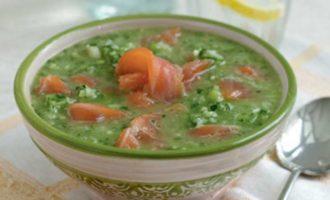 Зелёный гаспачо с лососем (green Gazpacho)
