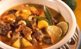 Суп Карри, баранина с картофелем
