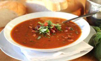 Томатный суп рецепт с болгарским перцем и бараньей колбасой