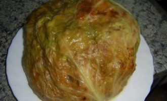 Фаршированный кочан капусты