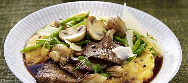 Полента — рецепт с жареными грибами