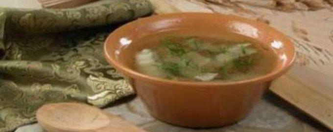 Грибной рассольник - рецепт для диет № 8 и 9