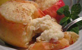 Диетический рецепт печеные яблоки с творогом