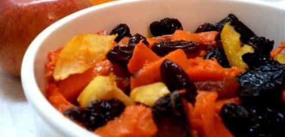 Овощное рагу с фруктами и черносливом